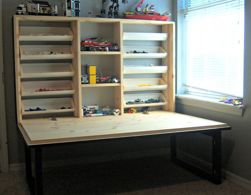Flip Down Kids Play Cabinet Plans Woodwork City Free