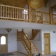 Rustic Wood Stairs And Railings Cedar Pine Staircases   Rustic Banisters And Railings   Industrial   Unusual   Balcony   Custom   Barn Style