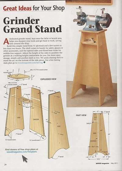 Grİnder Grand Stand Woodworking Talk Woodworkers Forum