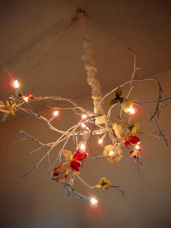 Hanging Light Bulb Chandelier Diy