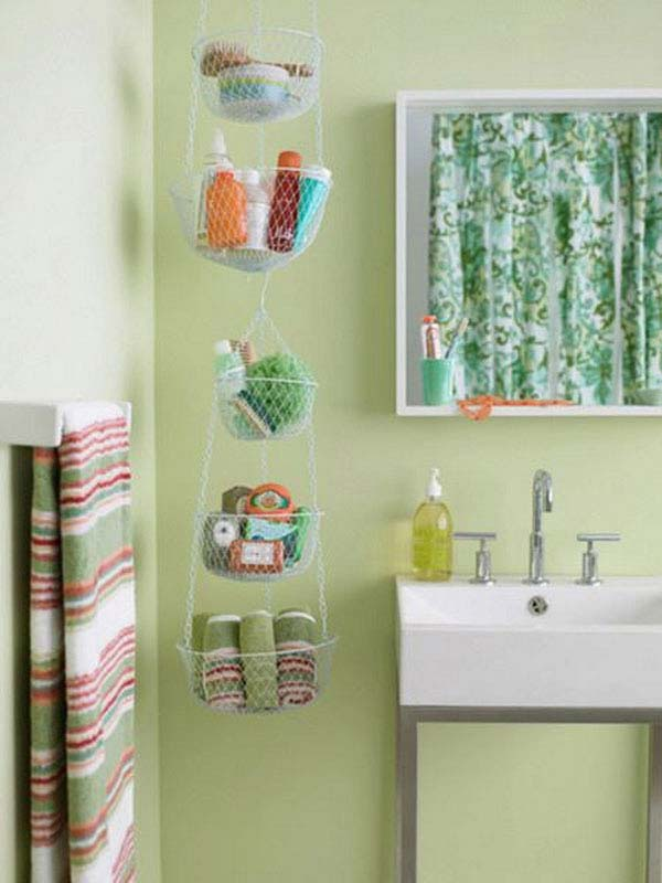 Green Bathroom Bin