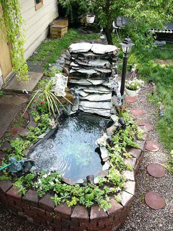 Yard Ponds And Waterfalls