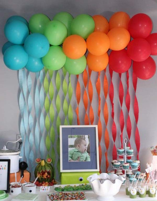 Украшение комнаты на День рождения- Экономно своими руками! 85