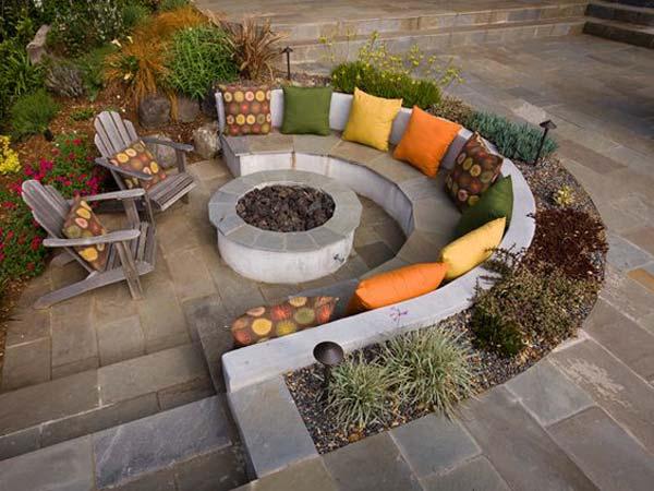 Seating Sunken Pit Fire Ideas