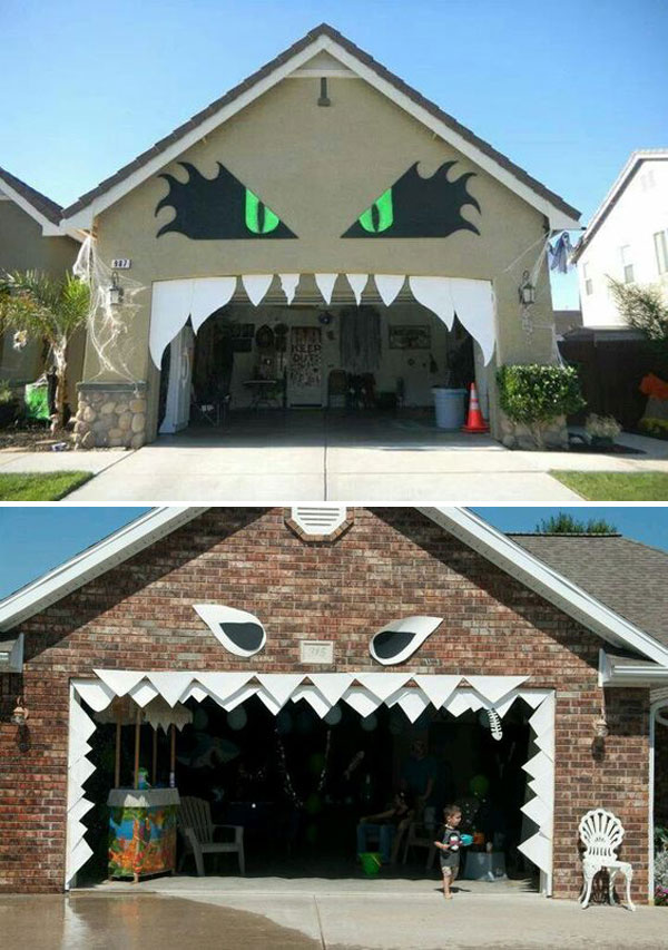Awesome Garage Door Decorating Ideas For Halloween