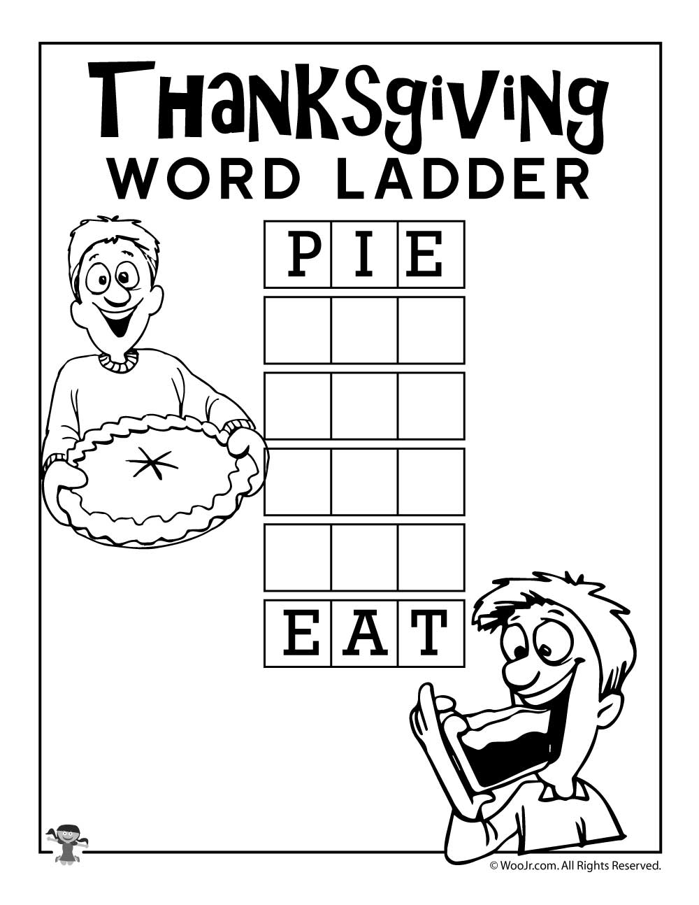 Pie E T W D L Dder Woo Jr Kids Ctivities