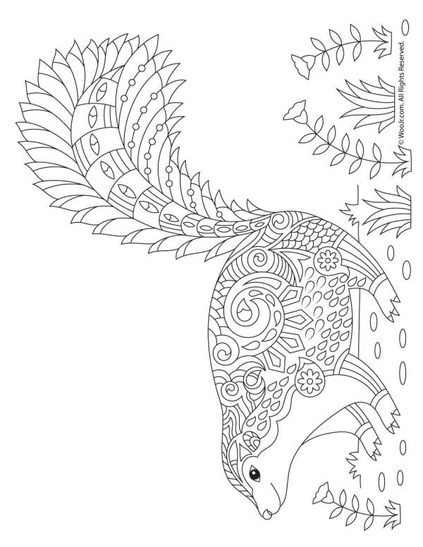 skunk coloring pages # 7