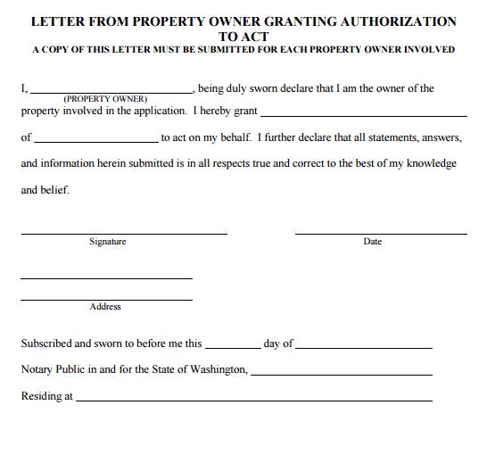 Act My Behalf Letter