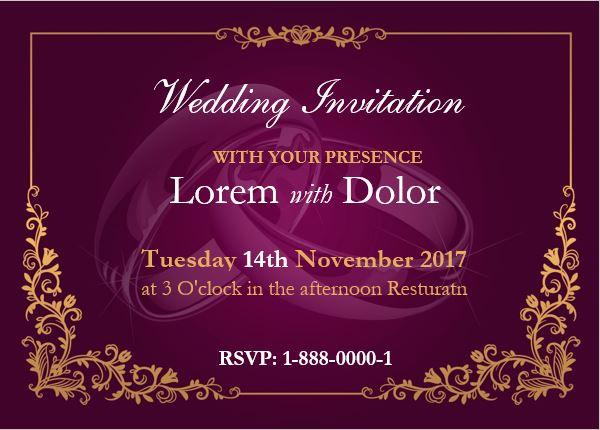 Marriage Invitation Card Writing