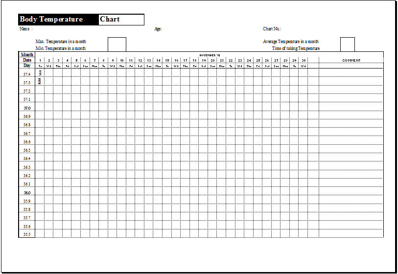 Medication Temperature Log Template