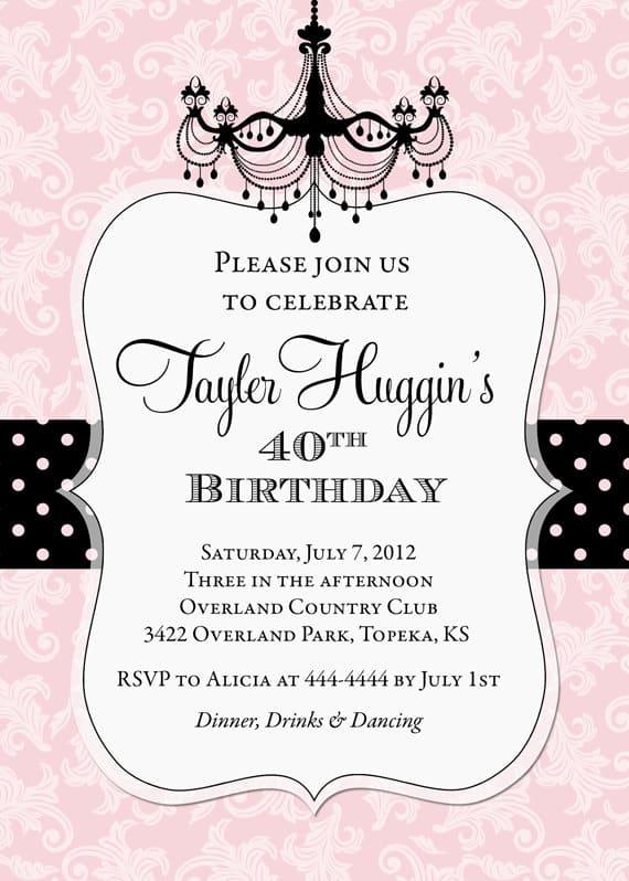 70th Birthday Party Invitation Templates