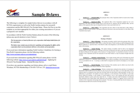 Download Free Template Texas Non Profit Bylaws Template Free - Bylaws template pdf