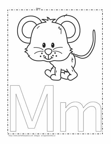 letter m coloring page # 3