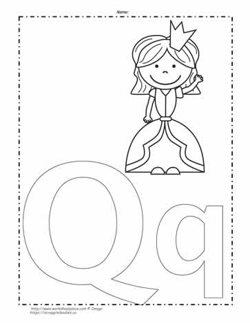 letter q coloring page # 6
