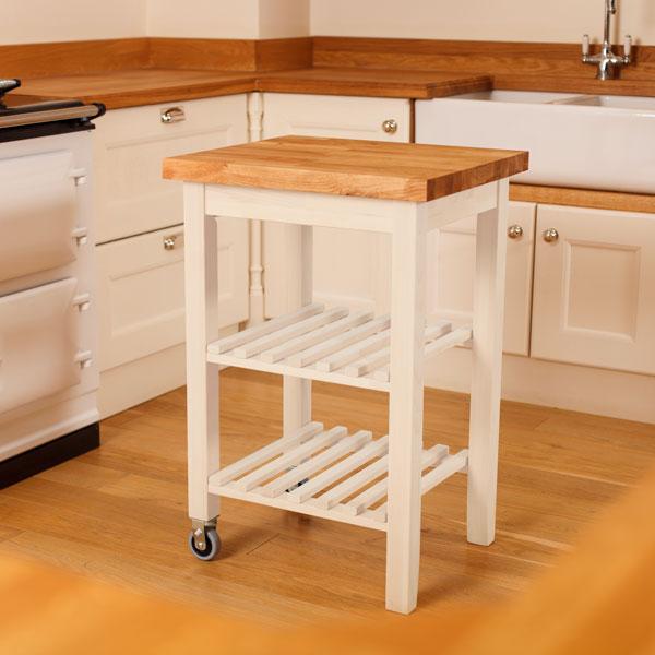 White Kitchen Oak Worktop
