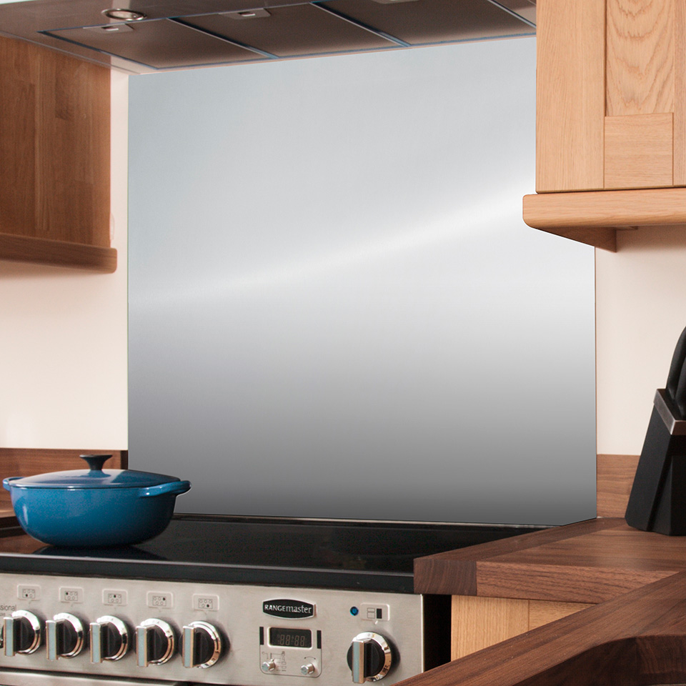 Stainless Steel Splashback 750mm X 900mm X 8mm Worktop