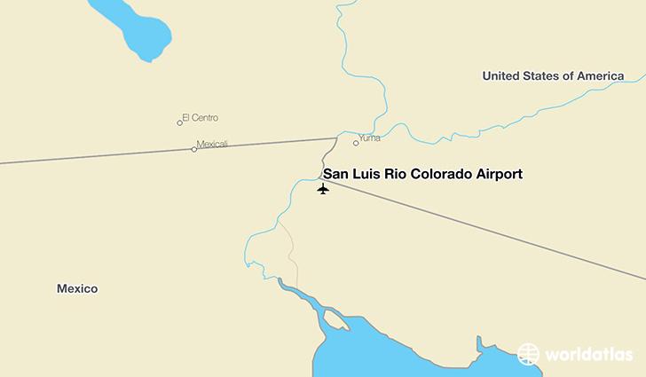 Rio San Colorado Luis Map