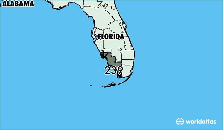 561 Area Code Location Map