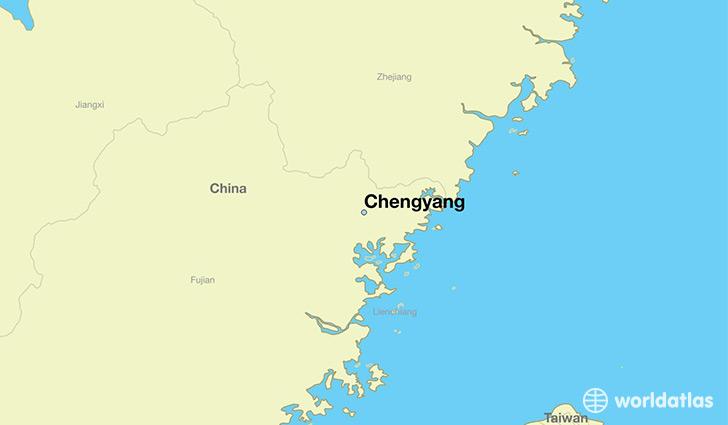 Fujian China Map Xiamen