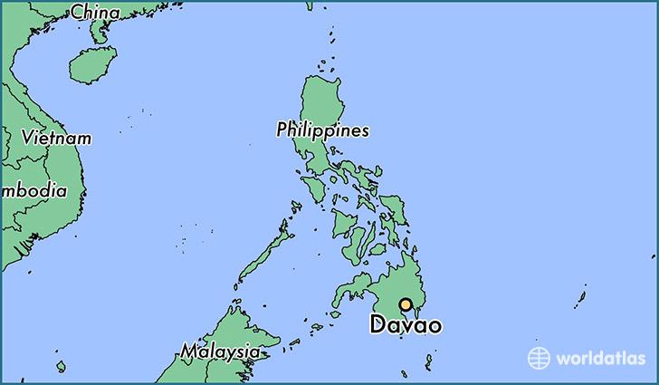 Mindanoo Philippines World Map