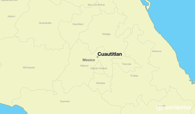Where is Cuautitlan  Mexico    Cuautitlan  Mexico Map   WorldAtlas com map showing the location of Cuautitlan