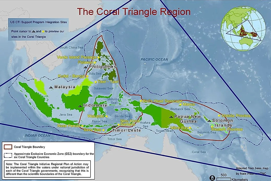 Map America Coral Reefs