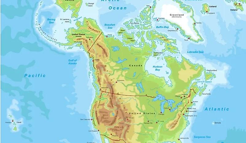 Map Canadas Mountain Ranges