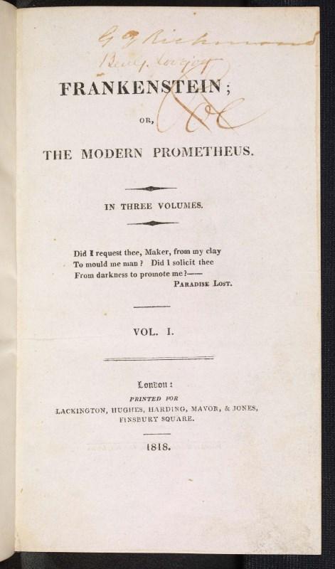 Mary Shelley's Frankenstein - 200 years of Frankenstein ...