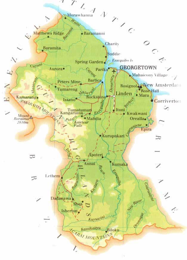 Administrative Regions Guyana