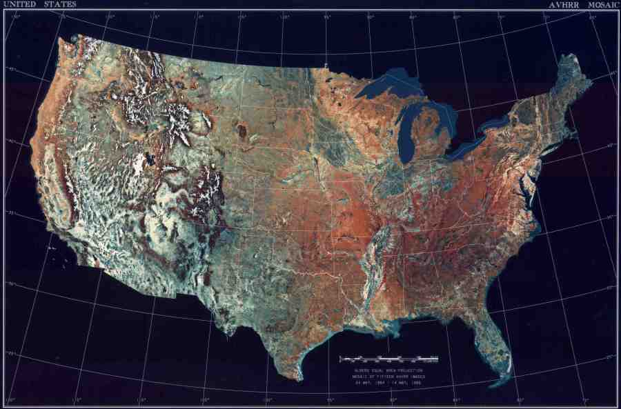 Map of USA  Satellite Map    Worldofmaps net   online Maps and     Map of USA  Satellite Map