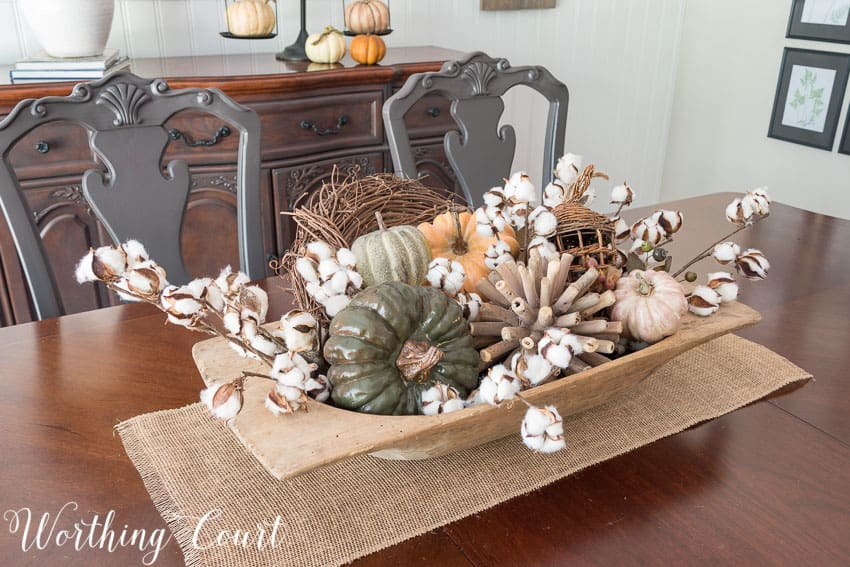 Dough Bowl Decorating Ideas How To Layer And Fill A Large Dough Bowl     Dough Bowl Decorating Ideas Fall In My Farmhouse Dining Room Worthing Court  40