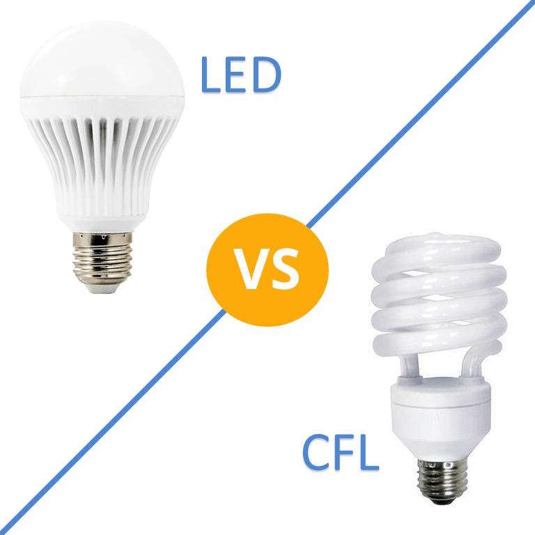 Led Light Bulb Vs Cfl