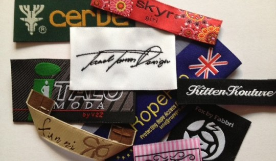 High Definition Woven Garment labels   Affordable   Top Quality High definition damask and taffeta woven labels  Designer Clothes Labels