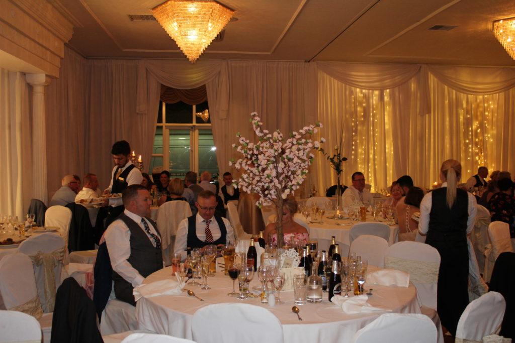 Custom Drapes Finnstown Castle Wow Weddings Wedding Flowers Church Flowers Chair Covers