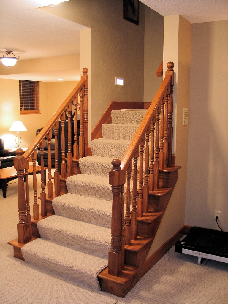A Basement Finish To Entertain Wrightworks Llc   Basement With Stairs In Middle   Upper Level Basement   Family Room   Hidden Basement   Underground Washroom   Middle Hallway