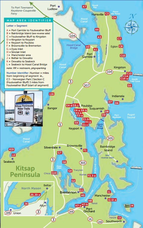 County Kitsap Road Map