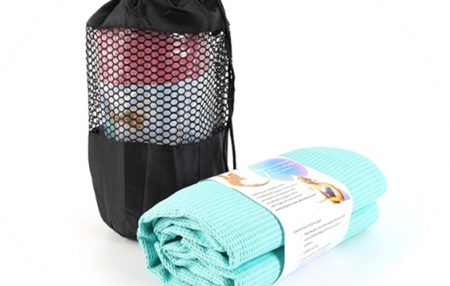 Yoga Mat Towel Portable With Bag Easy Washing No Smell