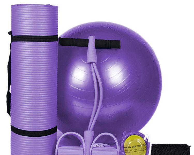 Yoga Mat Set Eco Friendly Durable For Yoga Beginner Gym Studio