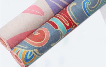 Yoga Mat Suede+Natural Rubber Portable Eco Friendly