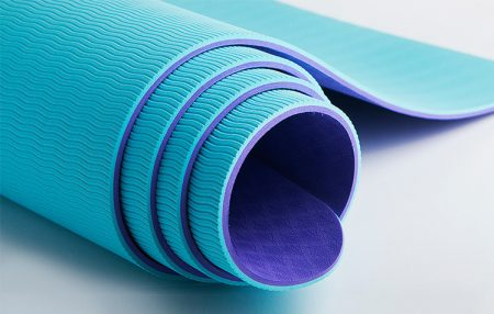 Yoga Mat TPE Double Color Soft Anti-slip Odorless