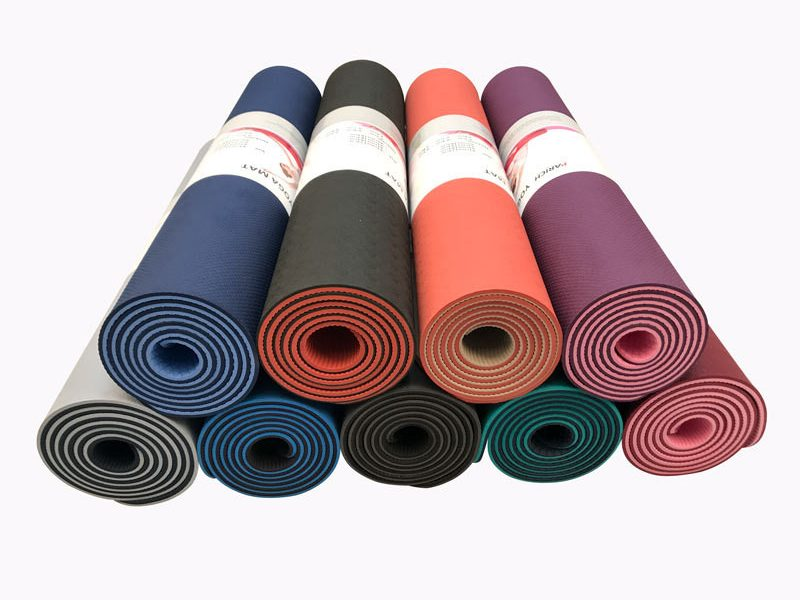 Yoga Mat TPE Pure Color Double Color Anti-slip