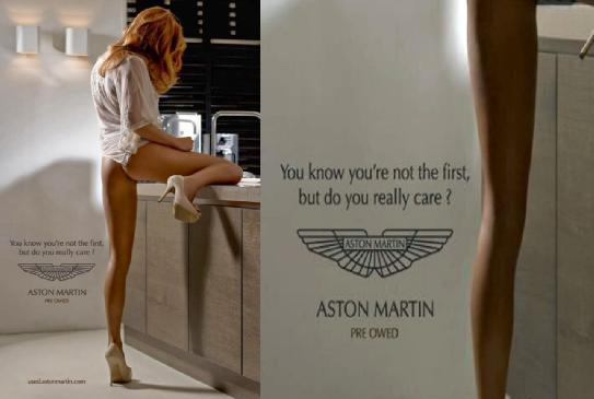 Aston Martin Used Car Ad Girl