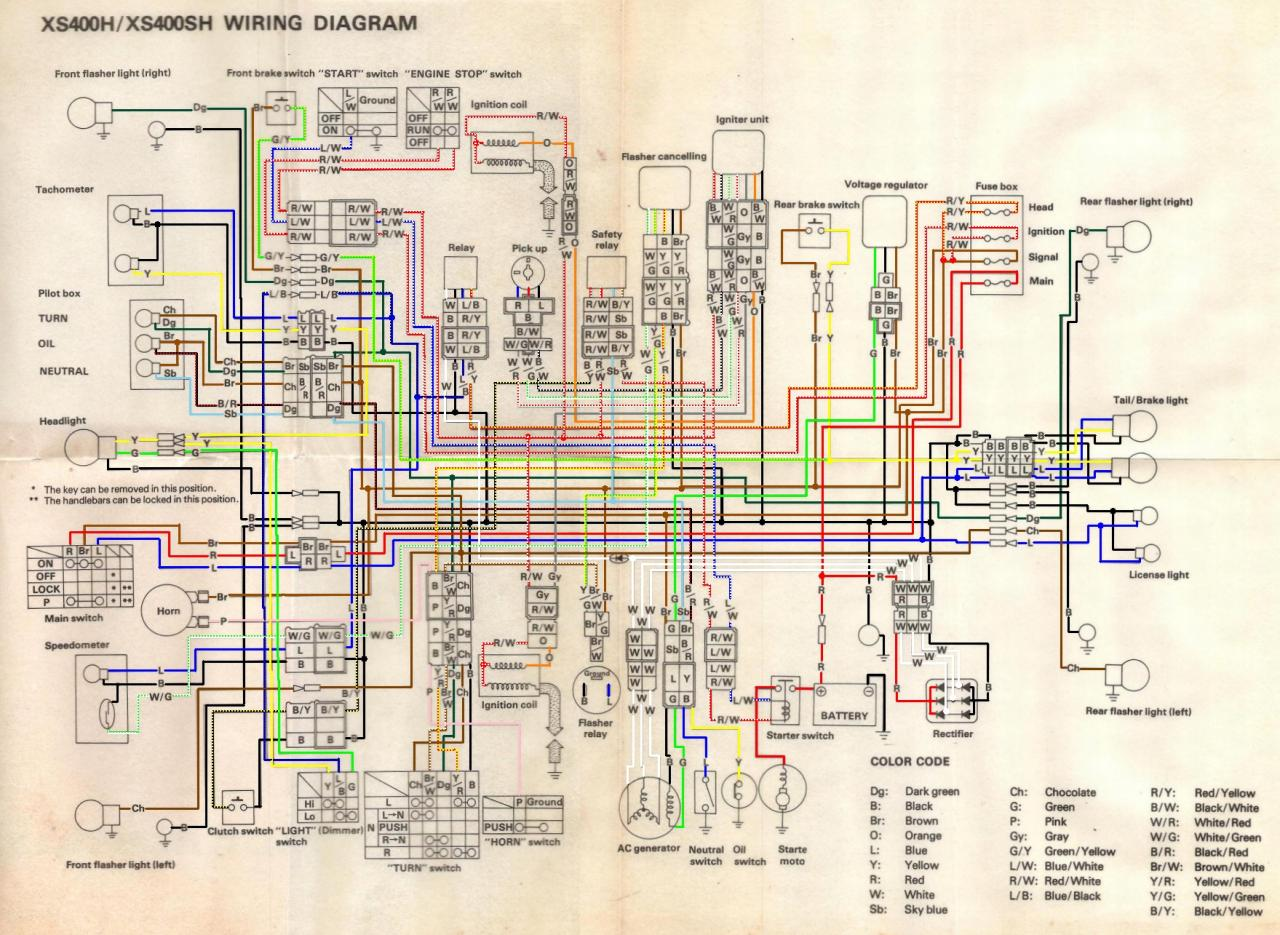 Yamaha Rd200 Wiring Diagram Free Download Schematic 1979 Xs400 Diagrams Xs 400 Electricity Tt500