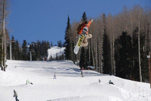 Snowboarding Sunrise Park Resort Greer Arizona Usa