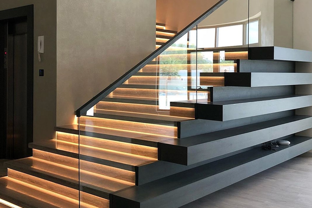 Staircase Designs That Will Uplift Any Space Part 3 Yanko Design   Tubular Design For Stairs   Finished   Minimalist   Decorative Wood Railing   Contemporary   Home Tower