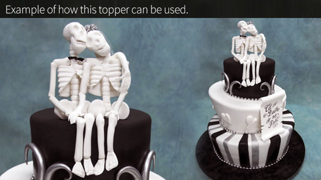 Individual Bride And Groom Cake Toppers
