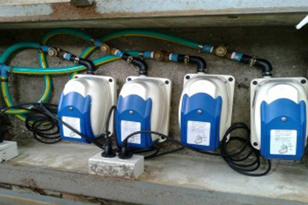 HIBLOW air pump treated wastewater in the tank Thani school