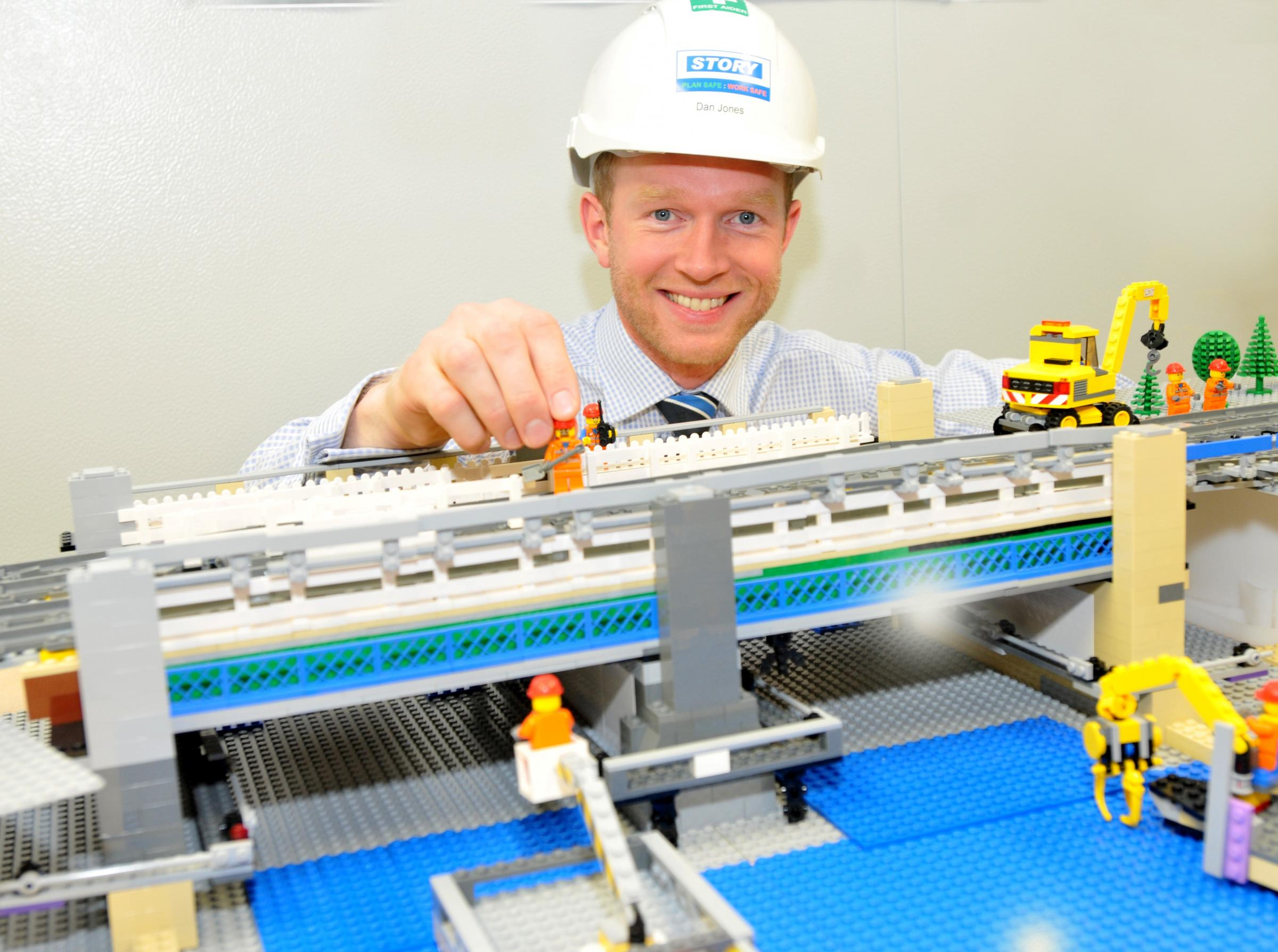 Rail engineers create Lego model to show how Scarborough Bridge will     Rail engineers create Lego model to show how Scarborough Bridge will look  after renovation