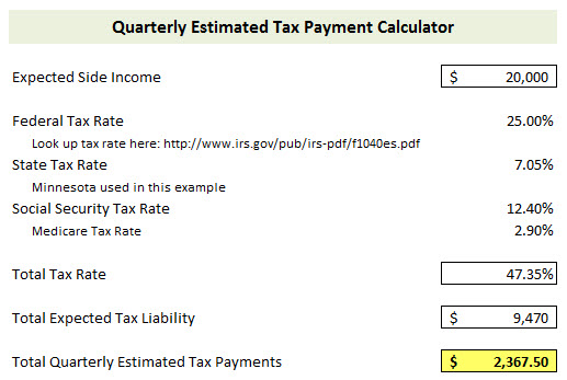 Estimated Tax Payments Calculator