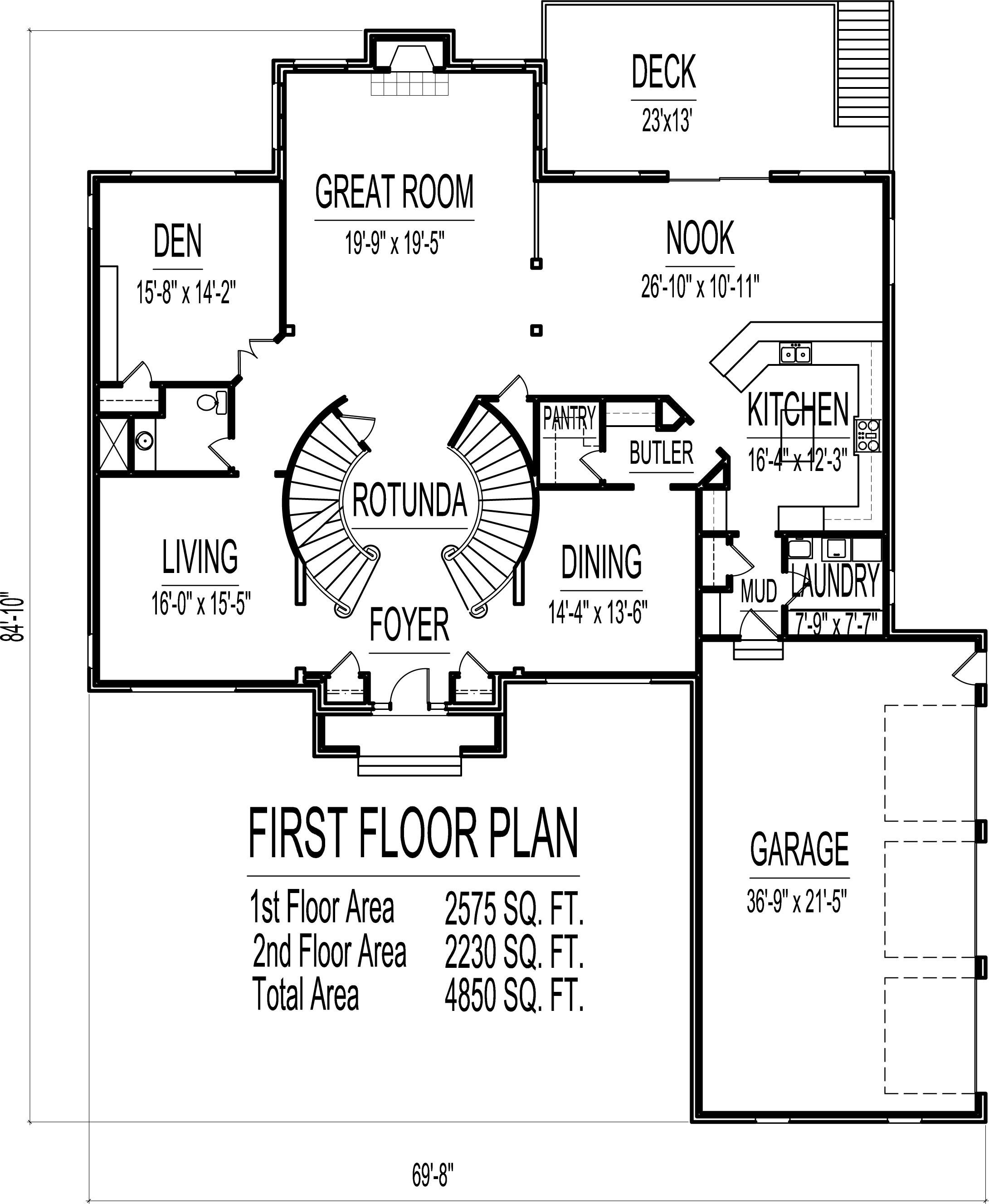 4500 Square Foot House Floor Plans 5 Bedroom 2 Story Double Stairs | Stairs In House Plans | Residential | Upstairs Dream House | Grand Staircase | Sweeping Staircase House | Balcony